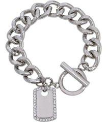 dog tag charm bracelet