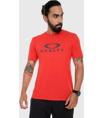 camiseta rojo-azul oakley ellipse ss