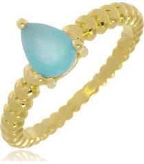 anel brenda gota ácqua marinne di capri semi jóias x ouro incolor