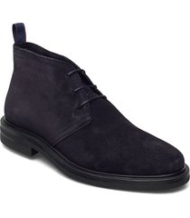 kyree mid lace boot desert boots snörskor blå gant