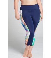 lane bryant women's swim capri legging 18 tropical rainbow