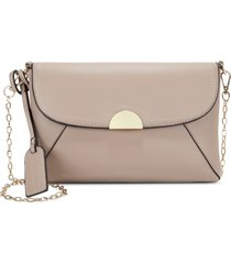 sole society blyth faux leather clutch - pink