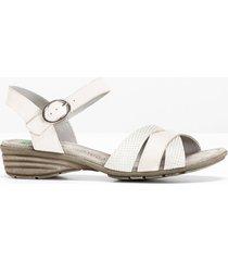 sandalo comodo in pelle (bianco) - bpc selection