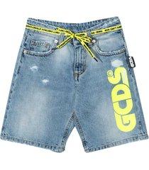 gcds mini denim shorts