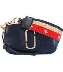 marc jacobs bolsa tiracolo pequena 'snapshot' - azul