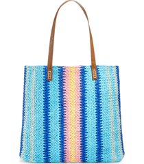 martha stewart collection vertical stripe beach tote, created for macy's bedding