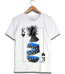 camiseta abacaxi mandrac branca - branco - masculino - algodã£o - dafiti
