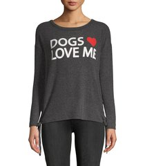 chaser women's journey dolman-sleeve pullover - black - size xl