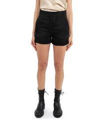 ann demeulemeester black shorts