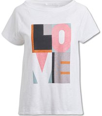 love block print t-shirt