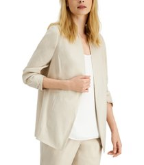 alfani ruched-sleeve open-front blazer, created for macy's