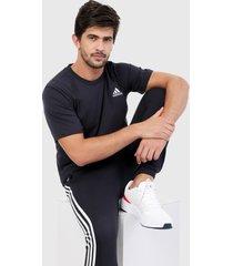 camiseta azul oscuro-blanco adidas performance essentials logo