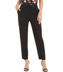 nine west textured crepe pants