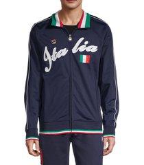 fila men's italia stripe-details jacket - red - size xl