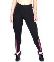 calça legging bravaa modas 203 preto e rosa