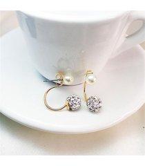 orecchino dolce orecchini sllver oro strass palla perla orecchino orecchino gioielli di moda per le donne
