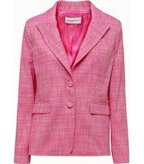 giuliette brown giacca monopetto in cotone rosa