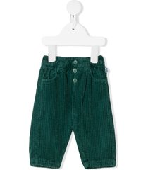 il gufo chunky corduroy trousers - green