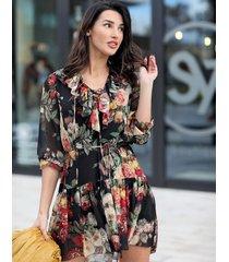 sukienka alice kwiaty czarna