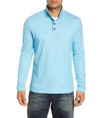 men's robert graham leonard classic fit pique pullover, size xxx-large - blue