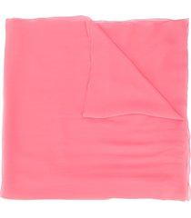 alberta ferretti silk transparent scarf - pink