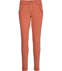hollycr twill pants - baiily fit rechte jeans oranje cream