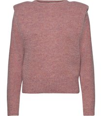 off shoulder knit gebreide trui roze maud