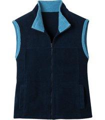 bicolor fleece-vest uit pure bio-katoen, nachtblauw/jeans s
