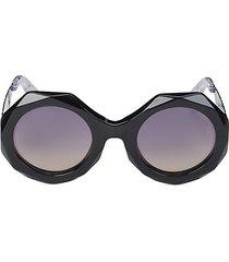 53mm injected geometric sunglasses