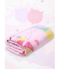 cobertor solteiro lepper dupla-face fantasy rosa - rosa - menina - dafiti