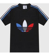 camiseta negro-azul-rojo-blanco adidas originals adicolor tricolor
