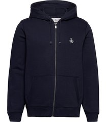zip through small logo hoodie hoodie trui blauw original penguin
