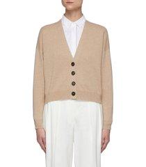 crop wool cardigan