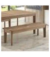 banco | banqueta 1,40m ripado para áreas externas em madeira eucalipto - maior durabilidade - canela