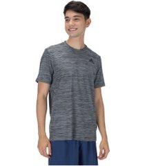 camiseta adidas all set - masculina - cinza escuro