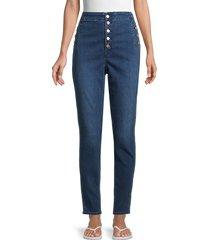 j brand women's natasha sky high-rise skinny ankle jeans - blue - size 32 (10-12)