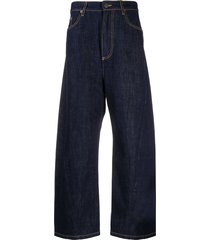 kenzo high-rise twisted cocoon-fit jeans - blue