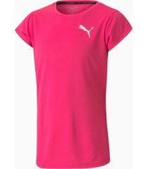 active t-shirt, roze/aucun, maat 140 | puma