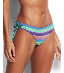 baja stripe brazilian loop tie side bikini bottom