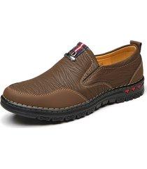 uomo casual scarpe in pelle microfibra slip-on con suola morbida
