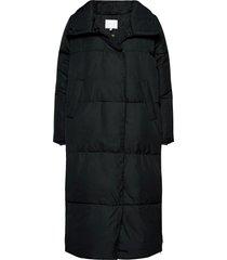 puffer jacket gevoerde lange jas zwart coster copenhagen