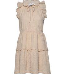 mandy texture korte jurk crème arnie says