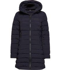 arabella w coat gevoerde lange jas blauw 8848 altitude