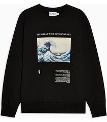 mens black wave sweatshirt
