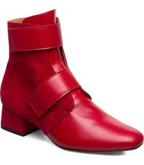rudy, 743 rudy boots shoes boots ankle boots ankle boots with heel röd stine goya