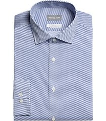 michael kors slim fit dress shirt blue print
