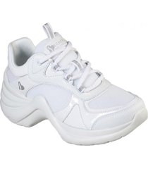 zapatos mujer  solei st. - groovy core blanco skechers