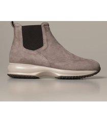 hogan flat booties chelsea interactive hogan boot in suede