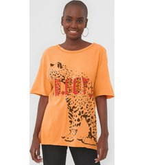 camiseta oh, boy! onça laranja