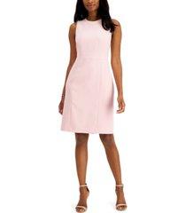 kasper petite solid sleeveless sheath dress